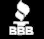 Better Business Bureau Logo - White
